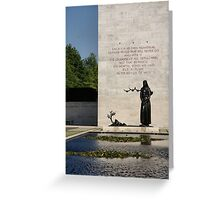 Memorial Statue  Netherlands American Cemetery Greeting Card