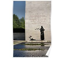 Memorial Statue  Netherlands American Cemetery Poster