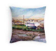 """Decay at the Boatyard "" Throw Pillow"