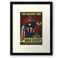 Cap Salutes You! Framed Print