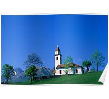 Mountain Chapel, Belluno Poster