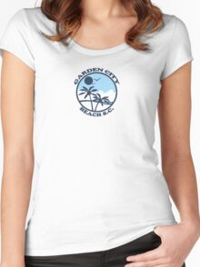 Garden City Beach - South Carolina. Women's Fitted Scoop T-Shirt