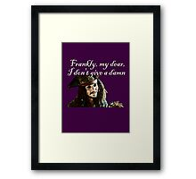 Jack Sparrow Just Doesn't Give a Damn Framed Print