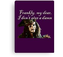 Jack Sparrow Just Doesn't Give a Damn Canvas Print