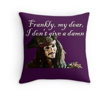 Jack Sparrow Just Doesn't Give a Damn Throw Pillow