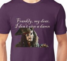 Jack Sparrow Just Doesn't Give a Damn Unisex T-Shirt