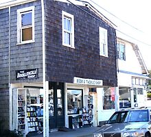 Old Book and Tackle Shop in Watch Hill, Rhode Island by Maureen Zaharie