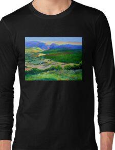 Beechmont to Mt Warning  Long Sleeve T-Shirt