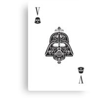 Darth Card Canvas Print