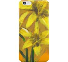 Yellow Lilies with a watercolor feel  iPhone Case/Skin