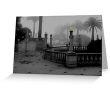 COURTYARD - EARLY MORNING Greeting Card