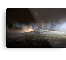 Geothermal Painted with Light Metal Print