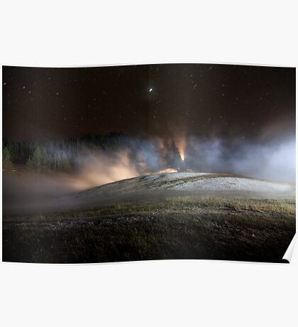Geothermal Painted with Light Poster