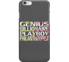 Genius, Billionaire, Playboy, Philanthropist iPhone Case/Skin