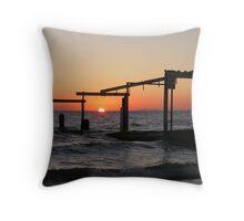Sunset at Elwood Beach Throw Pillow