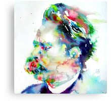 NIETZSCHE watercolor portrait.3 Canvas Print