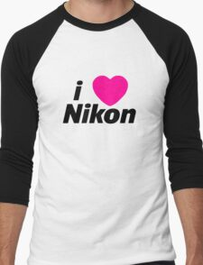 I Love Nikon -  But I own a canon! Men's Baseball ¾ T-Shirt