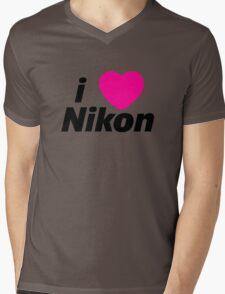 I Love Nikon -  But I own a canon! Mens V-Neck T-Shirt