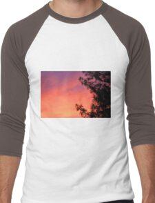 tree in the sunset Men's Baseball ¾ T-Shirt