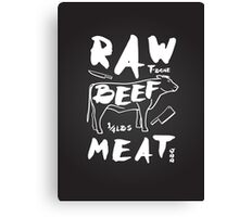Raw Beef meat Canvas Print
