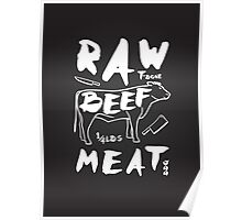 Raw Beef meat Poster