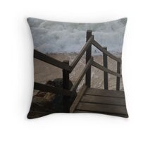 steps into the water Throw Pillow