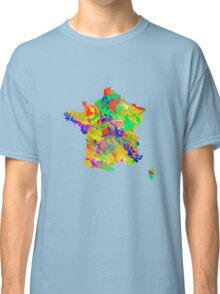 Watercolor Map of  France Classic T-Shirt