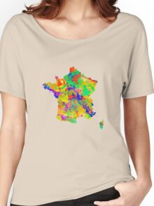 Watercolor Map of  France Women's Relaxed Fit T-Shirt