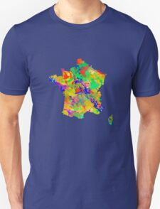 Watercolor Map of  France T-Shirt