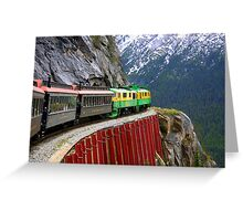 Breathtaking View from the White Pass Rail Train Greeting Card