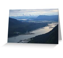 Magnificent Panorama from a Juneau Tram Car Greeting Card