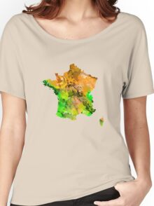 Map of  France Women's Relaxed Fit T-Shirt