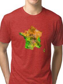 Map of  France Tri-blend T-Shirt