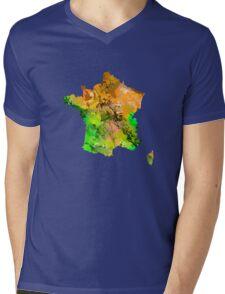 Map of  France Mens V-Neck T-Shirt