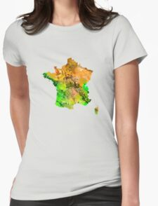 Map of  France Womens Fitted T-Shirt