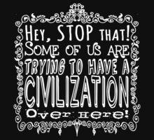 Civilization Light on Dark One Piece - Short Sleeve
