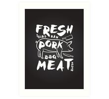 Fresh Pork meat Art Print