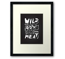 Wild Bison meat Framed Print