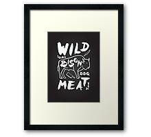 Wild Bison meat Framed Print