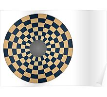 Circular Three Player Chess Board Poster