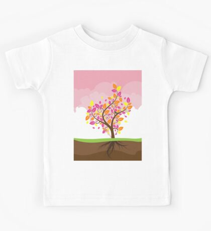 Stylized Autumn Tree 2 Kids Tee