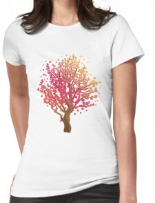 Stylized Autumn Tree 3 Womens Fitted T-Shirt