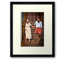 A helping hand Framed Print
