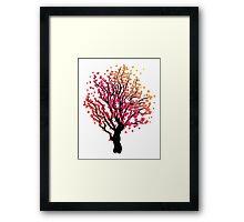 Stylized Autumn Tree 4 Framed Print