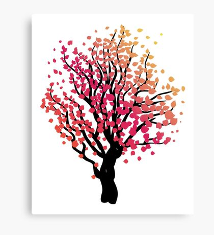 Stylized Autumn Tree 4 Canvas Print