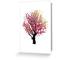 Stylized Autumn Tree 4 Greeting Card