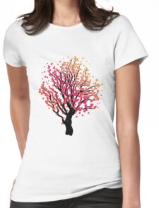 Stylized Autumn Tree 4 Womens Fitted T-Shirt