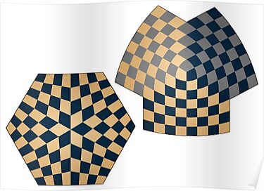 Spherical and Hyperbolic Three Player Chess Boards