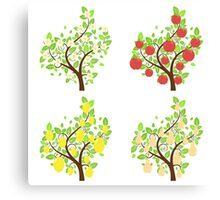 Stylized Fruit Trees Canvas Print