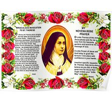 "Saint Therese "" The Little Flower "" Poster"